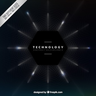 Technological hexagon background