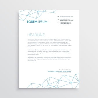 Technological letterhead template