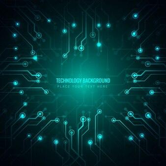 Technological luminous background