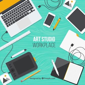 Technologies in art studio