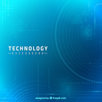 Technology background in blue tones