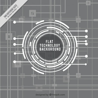 Technology background in flat design