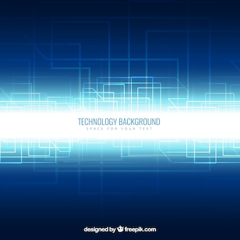 Technology background in neon style