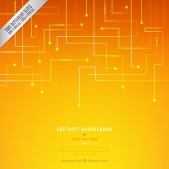 Technology background in orange and yellow tones