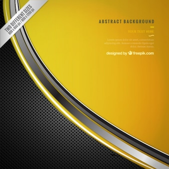 Technology background in yellow and gray color