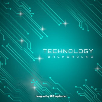 Technology background with circuits