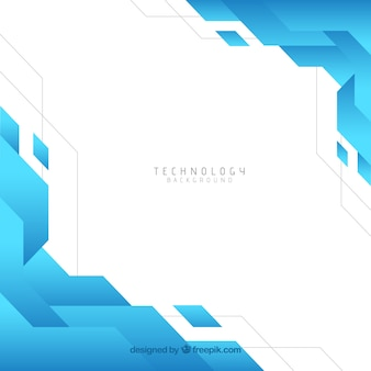 Technology background with geometric style