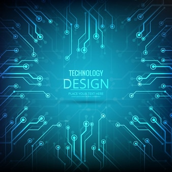 Technology blue background in modern style
