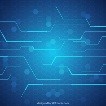 株とテクノロジー青の背景