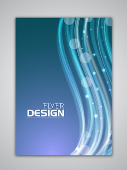 Technology brochure template brochure template color