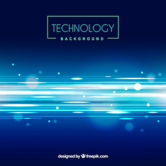 Technology defocused glossy background