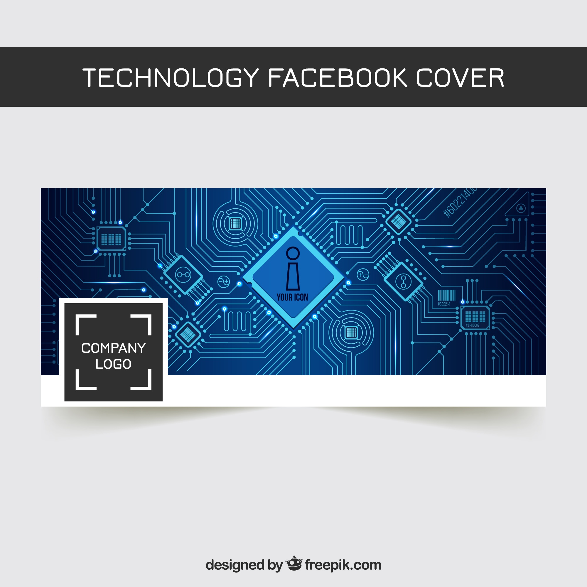 Technology facebook abstract cover