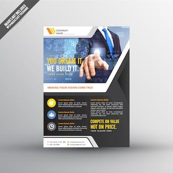 Technology flyer template