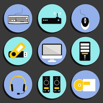 Technology icons collection