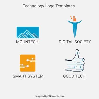 Technology logo templates pack
