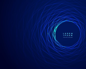 Technology tunnel blue lines background design