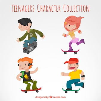 Teenagers character collection
