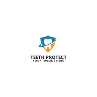Teeth protect logo template
