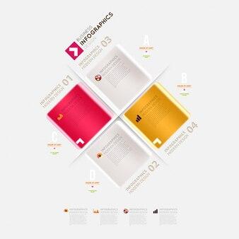 Template creative ribbon menu info