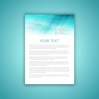 Template design for a business letterhead