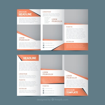 Template of abstract business trifold