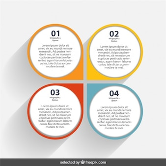 Template of infographic with colorful pointer