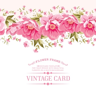 Template with a floral border