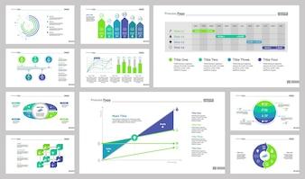 Ten Business Slide Templates Set