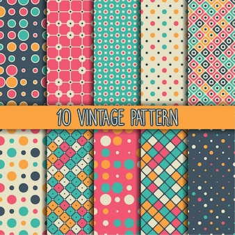 Ten vintage patterns