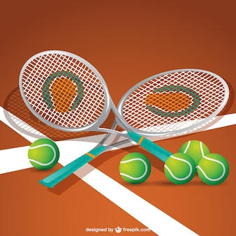 Tennis equipment vector