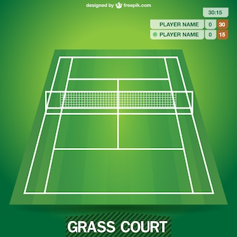 Tennis field vector graphic
