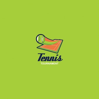 Tennis logo on a green background