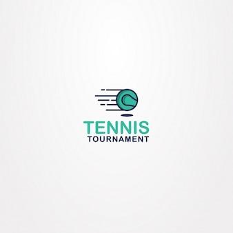 Tennis logo on a white background
