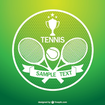 Tennis logo with rackets