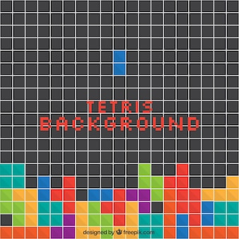 Tetris background with colorful squares