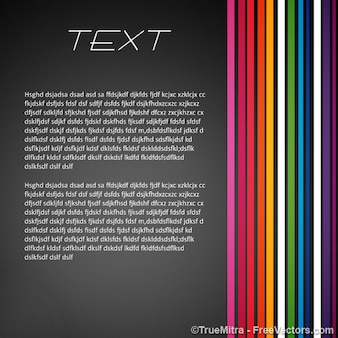 Text banner colored lines vector