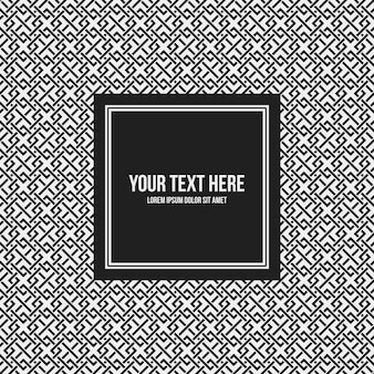 Text frame template with monochrome pattern. Useful for presentations, advertising and web design.