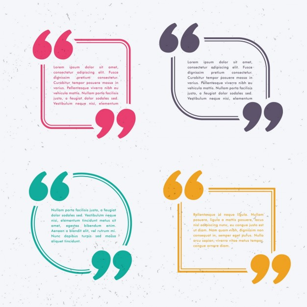 Text templates with colored frames