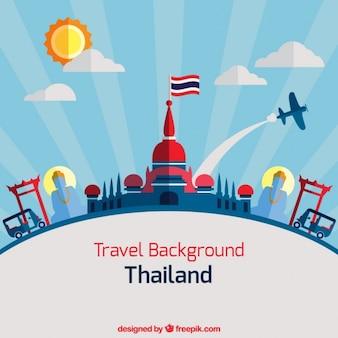 Thailand background in flat design