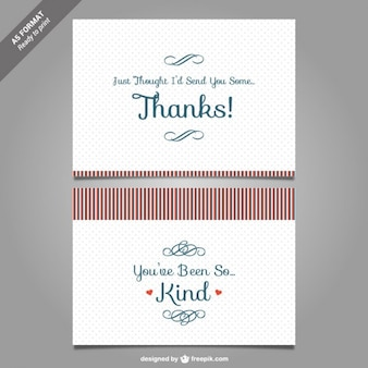 Thank you card template vector