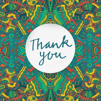 Thank you card with aztec elements