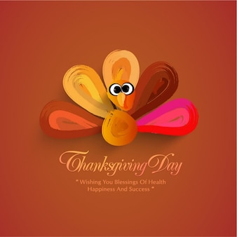 Thanksgiving background of abstract turkey