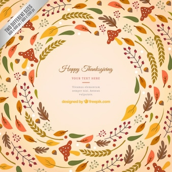 Thanksgiving background wih leaves