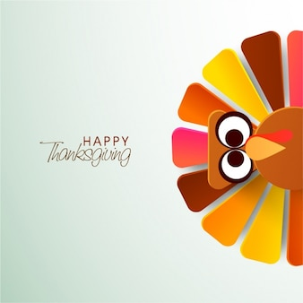 Thanksgiving background with geometric turkey