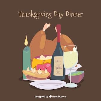 Thanksgiving day dinner design