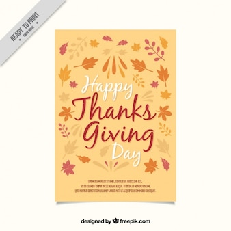 Thanksgiving leaves greeting card