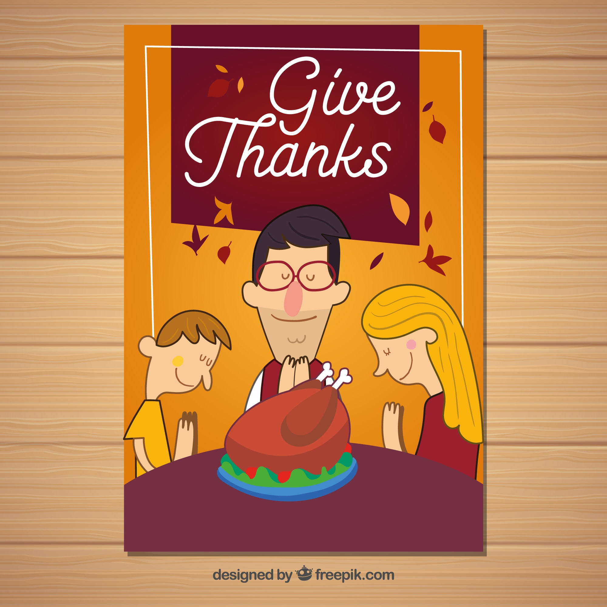 Thanksgiving poster with family