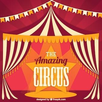 The amazing circus illustration
