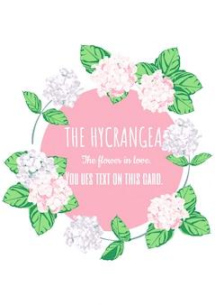 The Hydrangea card design.
