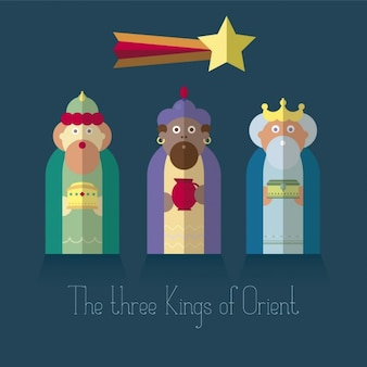 The three Kings of Orient in flat design